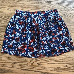 Gap Factory orange and blue mini skirt